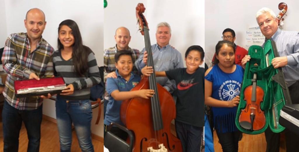 Participamos en la entrega de nuevos instrumentos para la Orquesta Sinfonías por el Cambio.